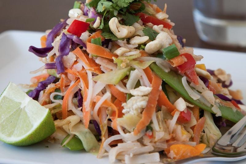 Raw Zucchini Noodle Pad Thai (It's Vegan Friendly!)